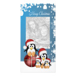 Christmas Penguins Picture Card