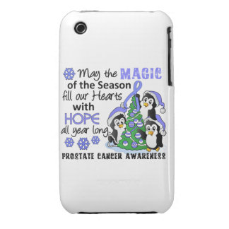 Christmas Penguins Prostate Cancer iPhone 3 Cases