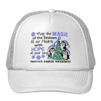 Christmas Penguins Prostate Cancer Trucker Hats