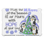 Christmas Penguins Prostate Cancer iPad Mini Covers