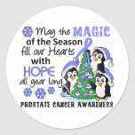 Christmas Penguins Prostate Cancer Stickers