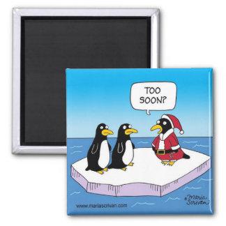 Christmas Penguins Refrigerator Magnet