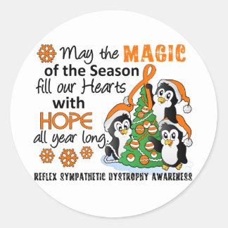 Christmas Penguins RSD Round Stickers