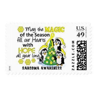 Christmas Penguins Sarcoma Postage Stamp