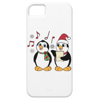 Christmas Penguins Singing iPhone 5 Covers