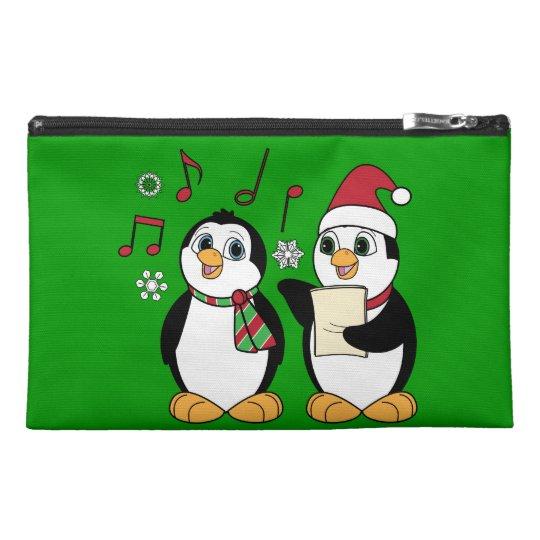 Christmas Penguins Singing Travel Accessory Bag