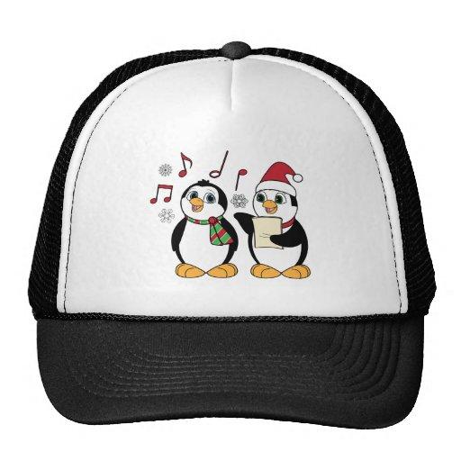 Christmas Penguins Singing Trucker Hat
