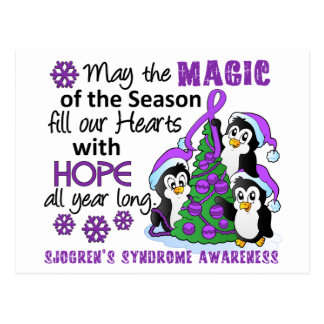 Christmas Penguins Sjogren s Syndrome Post Card