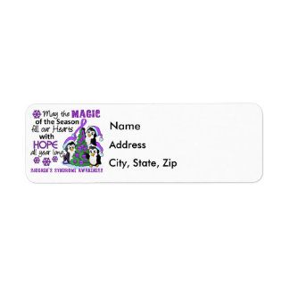 Christmas Penguins Sjogren's Syndrome Label