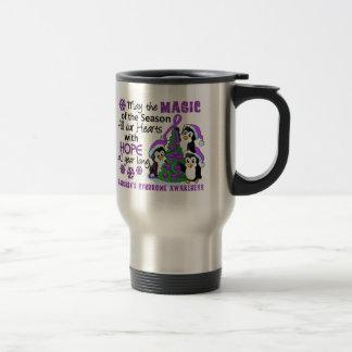 Christmas Penguins Sjogren's Syndrome 15 Oz Stainless Steel Travel Mug