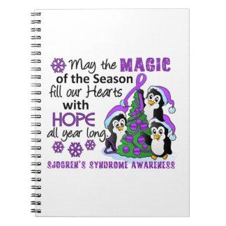Christmas Penguins Sjogren's Syndrome Note Book