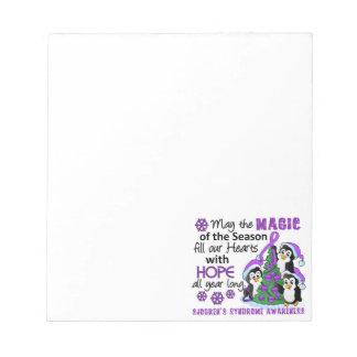 Christmas Penguins Sjogren's Syndrome Memo Note Pad