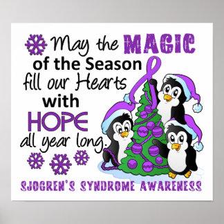Christmas Penguins Sjogren's Syndrome Posters