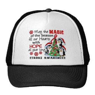 Christmas Penguins Stroke Mesh Hat