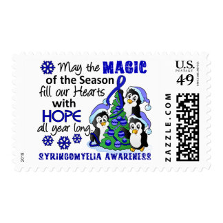 Christmas Penguins Syringomyelia Postage