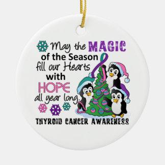 Christmas Penguins Thyroid Cancer Christmas Tree Ornament