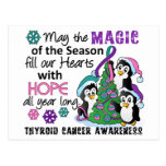 Christmas Penguins Thyroid Cancer Postcard