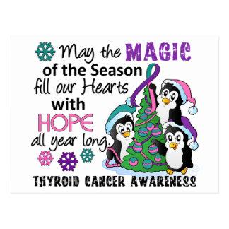 Christmas Penguins Thyroid Cancer Postcards