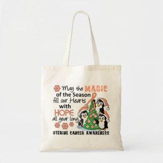 Christmas Penguins Uterine Cancer Bag