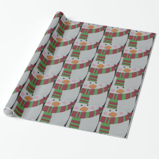 Christmas Penquin Gift Wrap Paper
