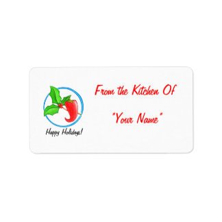 Christmas Pepper Treat Label