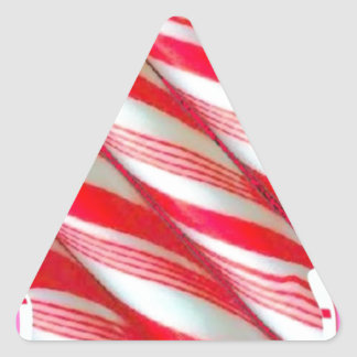Christmas Peppermint Candy By Sharles Triangle Sticker