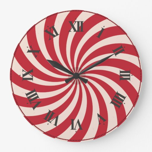Christmas peppermint candy clock