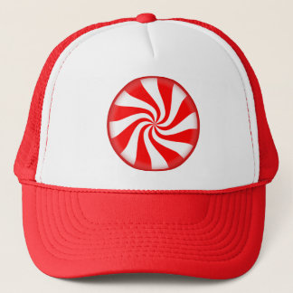 Christmas Peppermint Candy Trucker Hat