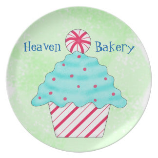 Christmas Peppermint Cupcake Catering Business Dinner Plate