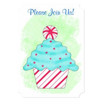 Christmas Peppermint Cupcake Coffee Dessert Party Custom Announcement