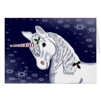 Christmas Peppermint Horn Unicorn Card