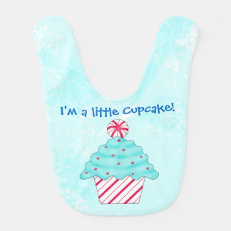 Christmas Peppermint I'm a Little Cupcake Bibs