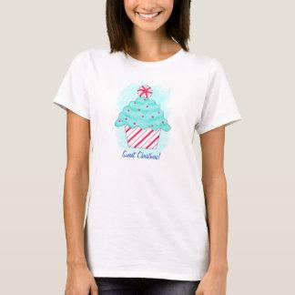 Christmas Peppermint Original Cupcake Art T-Shirt