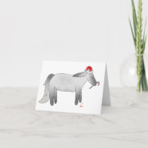 Christmas Peppermint Pony Holiday Card
