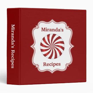 Christmas Peppermint Recipe Binder