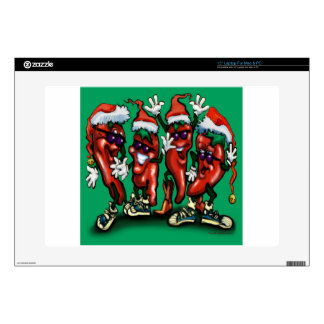 """Christmas Peppers 15"""" Laptop Decal"""