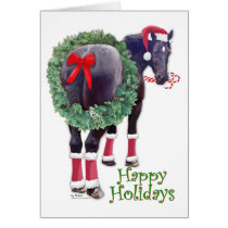Christmas Percheron Draft Horse Card
