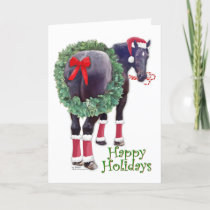 Christmas Percheron Draft Horse Holiday Card