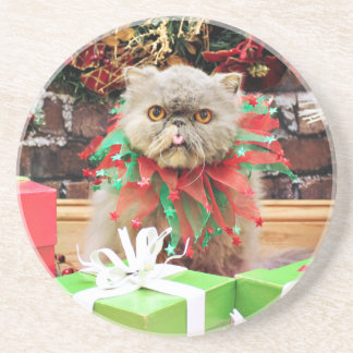 Christmas - Persian Cat - Frannie Coaster
