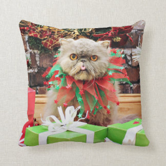 Christmas - Persian Cat - Frannie Pillows