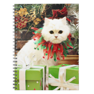 Christmas - Persian Cat - Toby Note Book