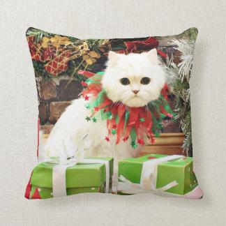Christmas - Persian Cat - Toby Pillow