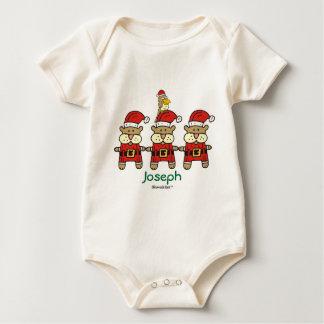 Christmas: Personalized Trio Plus One Baby Bodysuit