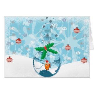 Christmas Pet Fish Splat Card