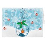 Christmas Pet Fish Splat Greeting Card