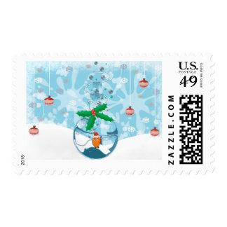 Christmas Pet Fish Splat Postage