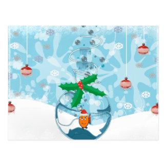 Christmas Pet Fish Splat Postcard