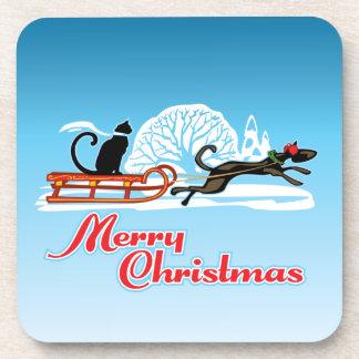 Christmas Pet Parade Drink Coaster