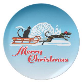 Christmas Pet Parade Plate