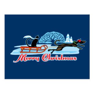 Christmas Pet Parade Postcard